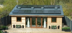 Garden room with solar and sun pipes - The Garden Escape by TG EScapes