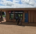 changing rooms and kiosk at Willen Lake by TGEscapes