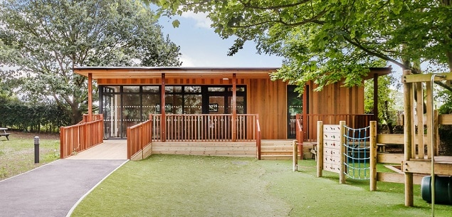 Eco-classroom at St Peters CE Infant School in Oxon
