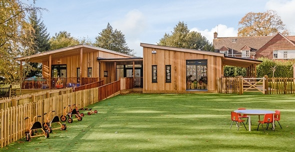 Eco-classroom by TGEscapes at St Francis School