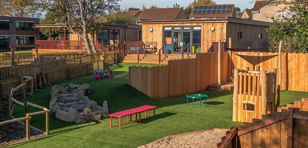 Early Years Eco Building at Colston's Lower School by TGEscapes