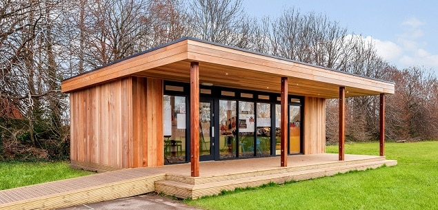 Eco-music Studio by TGEscapes at Rowner Junior School