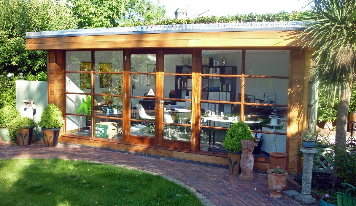 How to design build a garden office tg escapes for Garden office design