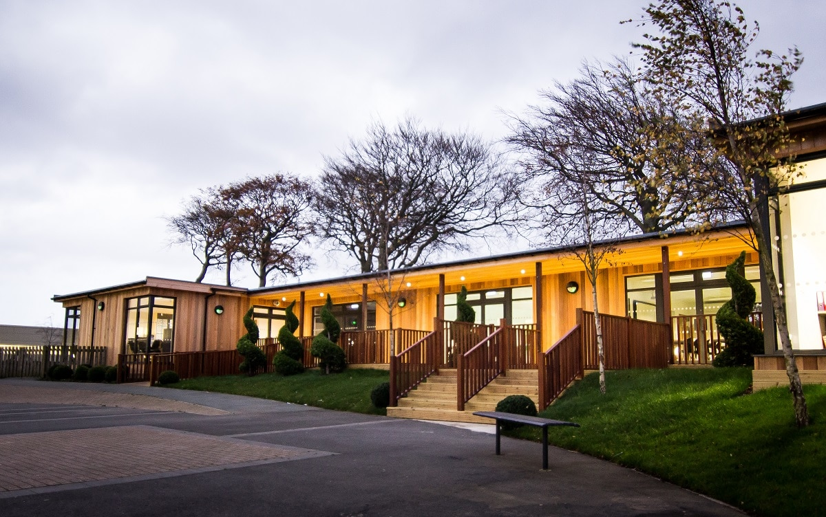Eco-Classroom block at Shotton Hall Academy by The Learning Escape