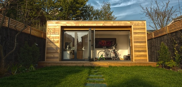 The whole project was managed brilliantly without any for Garden office gym