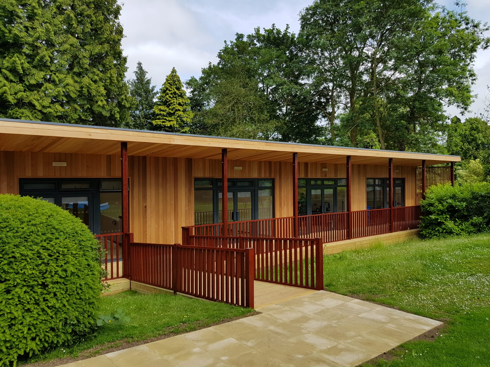 Eco building for SEN at The Shires at Oakham by TGEscapes