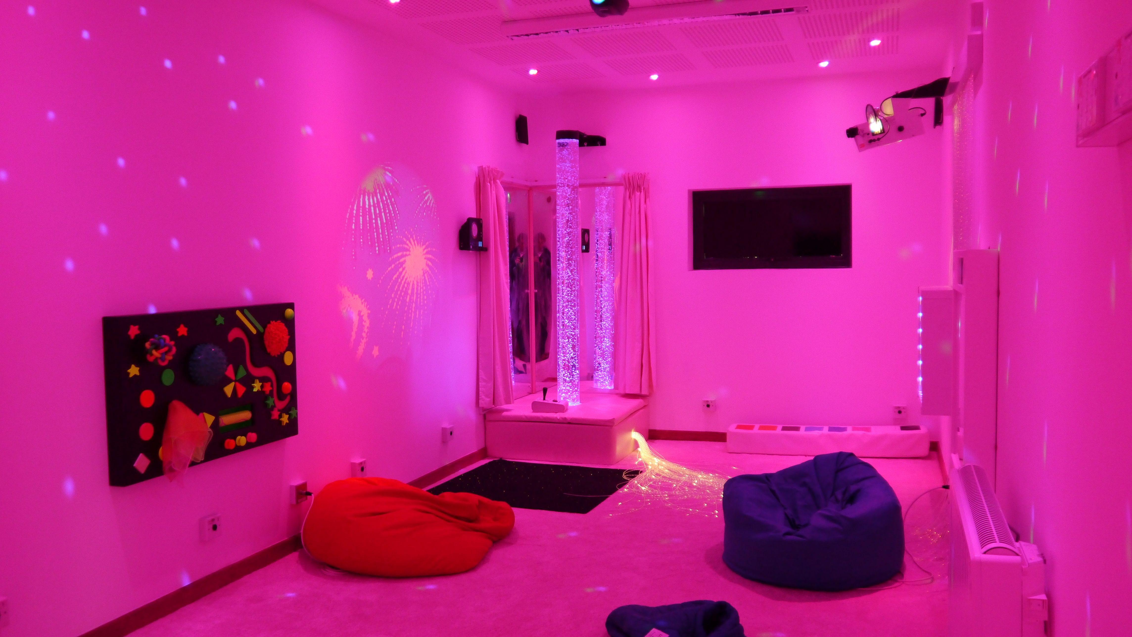 Sensory room in Eco-Classrooms for SEN at Pengwern College by The Learning Escape