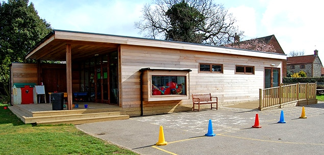 eco-friendly school classroom from the Learning Escape
