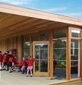 children in their eco-classroom