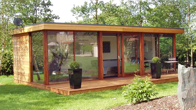 Garden offices bespoke modular school buildings garden for Modular garden rooms
