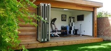 Garden office and cycle training room in London