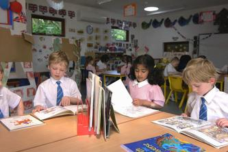 Children in their Eco Classroom at Danesfield Manor School by The Learning Escape
