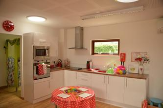 Kitchen in the Eco Nursery at St Fagans School in Cardiff by The Learning Escape