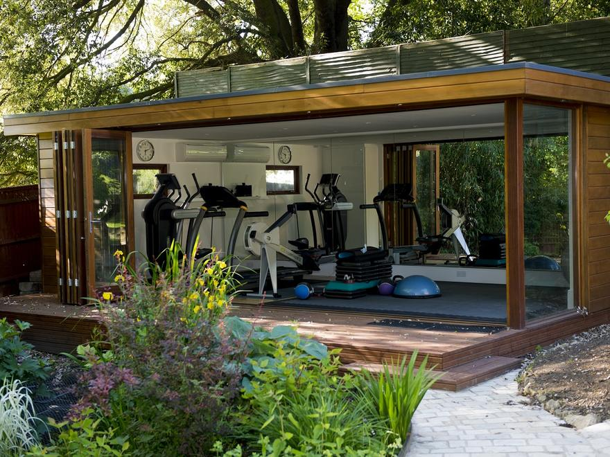 Personal garden gym outdoor buildings uk exercise