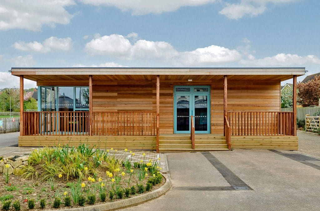 Eco-classroom at Mickleton Primary School in Gloucestershire