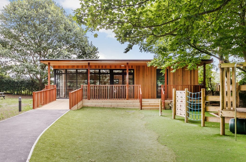 Eco-classroom at St Peter's C E Infant School in Oxon