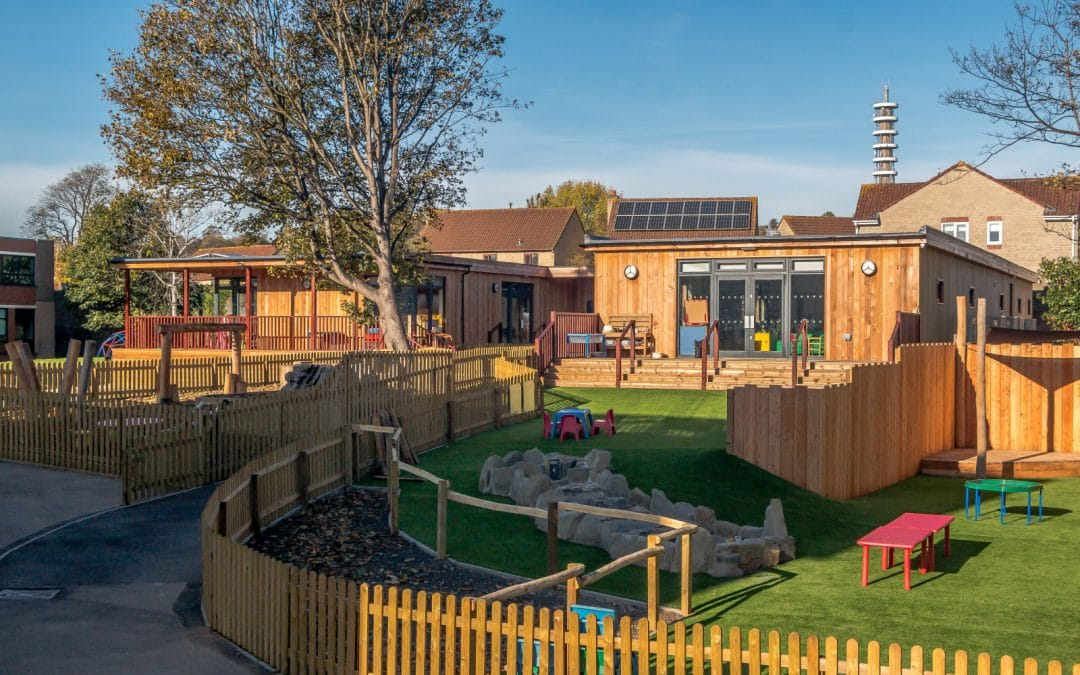 Early Years Eco Building at Colston's Independent Lower School in Bristol