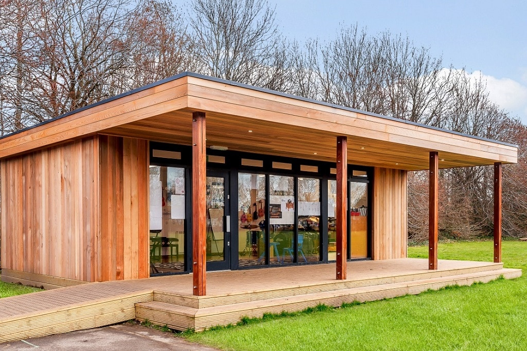 "Eco music studio at Rowner School <a href=""/education-eco-music-studio-rowner-junior-school-hampshire""> Read case study</a>"