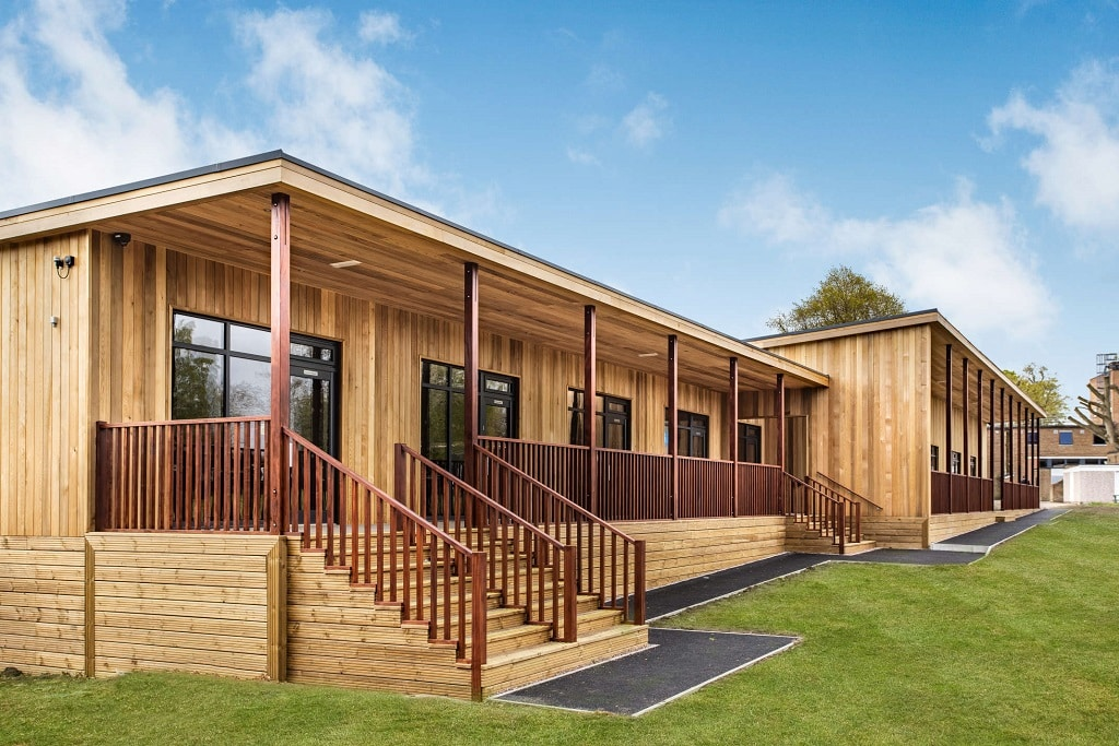 """6th Form building at King Edwards School Handsworth<a href=""""/the-building-is-a-new-6th-form-centre-for-our-year-12-and-year-13-students""""> Read case study</a>"""