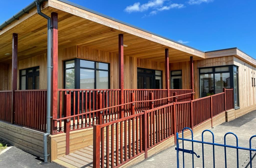 Eco Building for therapy at Bamburgh School