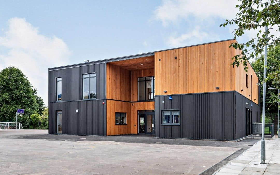 Two storey teaching block with offices and kitchen at Balcarras School