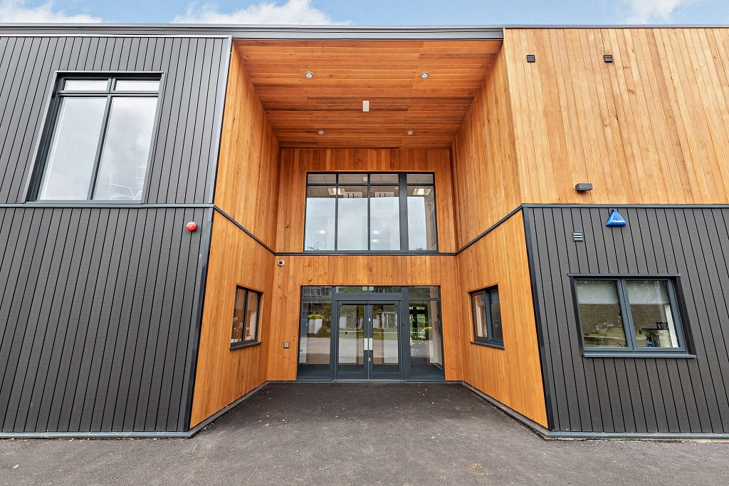 """Two storey classroom block at Balcarras School <a href=""""/two-storey-teaching-block-with-offices-and-a-kitchen """"> Read case study</a>"""